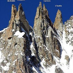 Aiguilles du Diable (Mont Blanc du Tacul) - Pointe Carmen