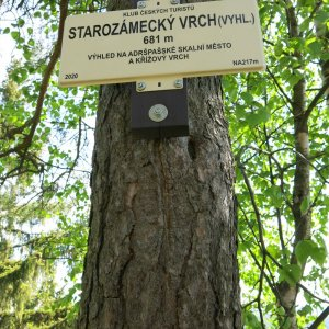 Adršpach - Starozámecký vrch + Čáp - rozhledna