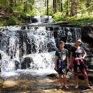 Z Branné na Hučavské vodopády