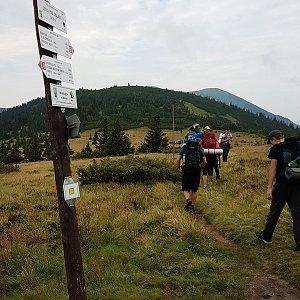 Trek přes Nízké Tatry - den 3 - Ďurková - Hiadelské sedlo