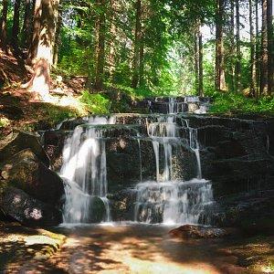 Branná - vodopády - Vozka - Keprník