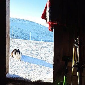 Zimní přespání na Klínovkách -12°C