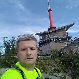 Vítězslav Vrána na vrcholu Lysá hora (2.8.2019 9:28)