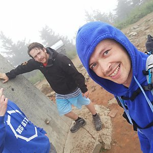 Ondřej Sládek na vrcholu Lysá hora (14.7.2019 12:25)