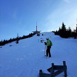 Pavlína na vrcholu Lysá hora (7.2.2019 13:00)