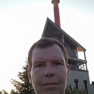 Michal Krčmář na vrcholu Lysá hora (31.8.2019 6:32)