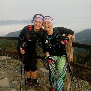 Léňa Manová na vrcholu Lysá hora (1.9.2018 6:30)