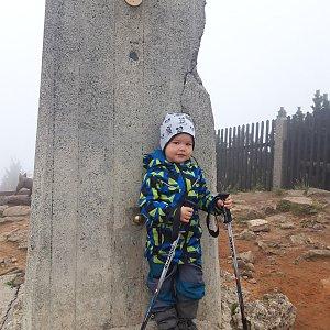 Su Mischelle na vrcholu Lysá hora (25.9.2019 12:22)
