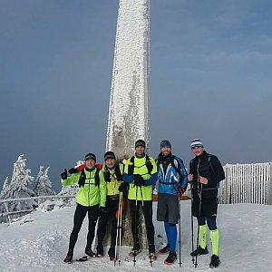 Tomáš Fojcik na vrcholu Lysá hora (17.1.2018 8:00)