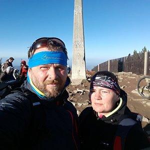 Martin a Jana Halamíčkovi na vrcholu Lysá hora (24.11.2019 11:31)