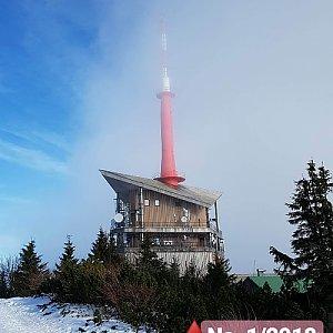Pavla Mitrengová na vrcholu Lysá hora (6.1.2018 0:00)