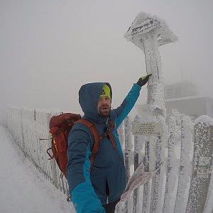 Pvlzck na vrcholu Lysá hora (3.1.2018 9:11)