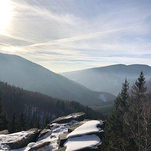 Ivča na vrcholu Lysá hora (6.12.2019 8:30)