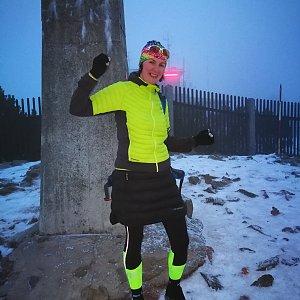 Petra Kosarkova na vrcholu Lysá hora (7.12.2019 15:43)