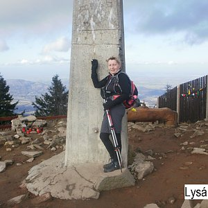 Hanka na vrcholu Lysá hora (20.12.2019 10:54)