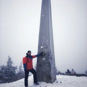 Jiří Šrámek na vrcholu Lysá hora (24.12.2019 10:36)