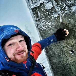 Jiří Šrámek na vrcholu Lysá hora (28.12.2019 12:09)
