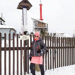 Pavlína Sýkorová na vrcholu Lysá hora (31.12.2019 11:29)