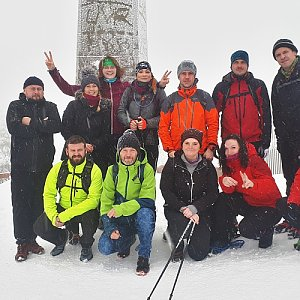 David Dudzik na vrcholu Lysá hora (25.12.2019 11:45)