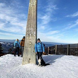 Aneta Šeráková na vrcholu Lysá hora (2.1.2020)