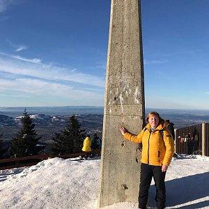 Pavla na vrcholu Lysá hora (2.1.2020 13:25)