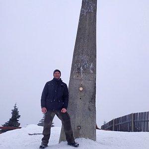 invader na vrcholu Lysá hora (4.1.2020 11:50)