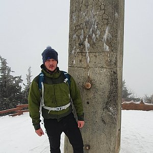 Tomas Jurosek na vrcholu Lysá hora (4.1.2020 9:09)