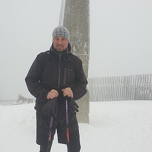 Igor Gluza na vrcholu Lysá hora (5.1.2020 8:58)