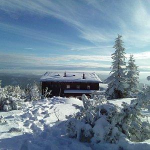Milan Meravy na vrcholu Lysá hora (6.1.2020 14:03)