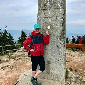 Hanka na vrcholu Lysá hora (8.5.2018 11:37)