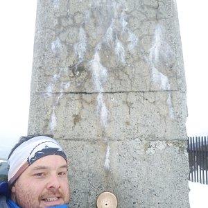 Jakub Špaček na vrcholu Lysá hora (10.1.2020 13:37)