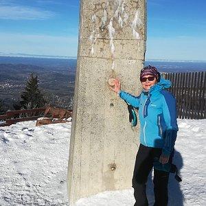 MUDr.Svatopluk Kunčar na vrcholu Lysá hora (12.1.2020 10:30)
