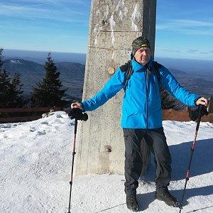 MUDr.Svatopluk Kunčar na vrcholu Lysá hora (15.1.2020 12:33)