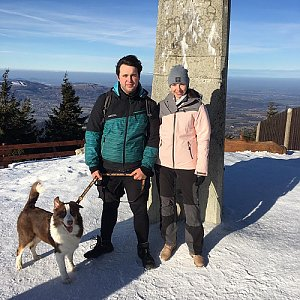 Kristián Lecián na vrcholu Lysá hora (15.1.2020 11:00)