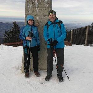 MUDr.Svatopluk Kunčar na vrcholu Lysá hora (17.1.2020 11:34)
