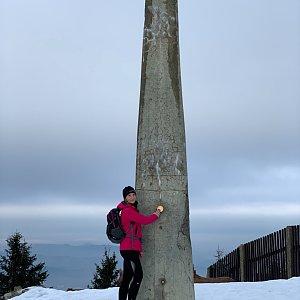 Vendula Valigurová na vrcholu Lysá hora (18.1.2020 9:50)