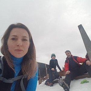 Marcela Kubíčková na vrcholu Lysá hora (18.1.2020 11:58)