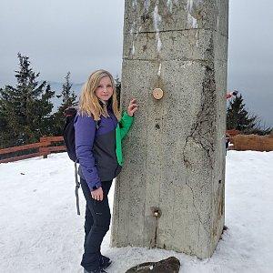 LucyS na vrcholu Lysá hora (18.1.2020 13:27)