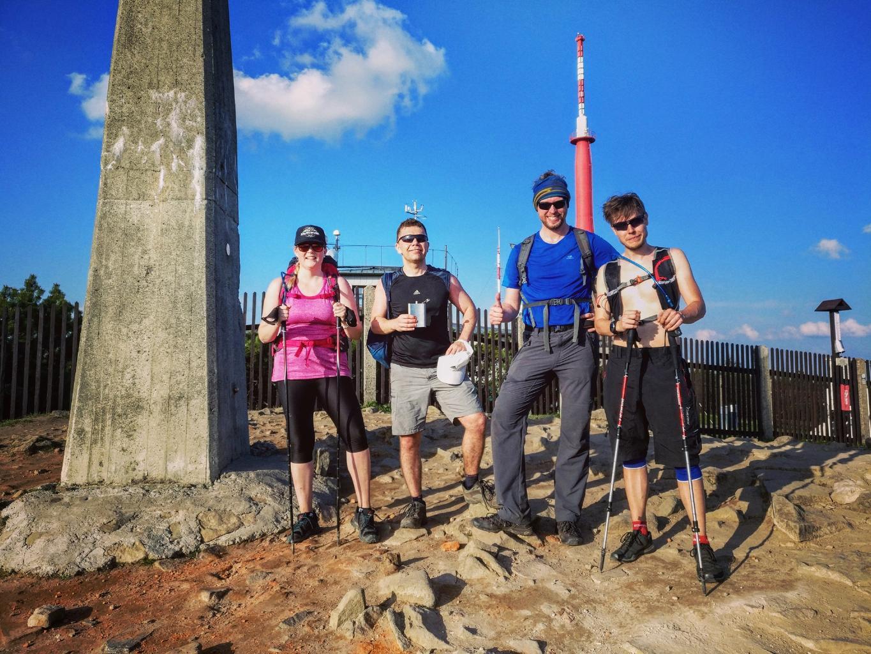 Petr Papcun na vrcholu Lysá hora (29.4.2018 18:10)