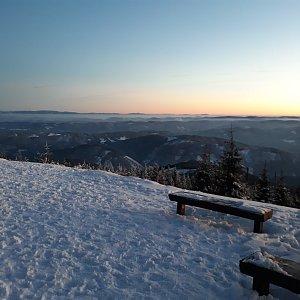 Hanka Ličková na vrcholu Lysá hora (21.1.2020 16:44)
