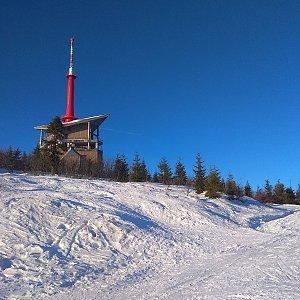 Roman Tigge na vrcholu Lysá hora (3.1.2020 14:44)