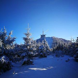 Petra Kosarkova na vrcholu Lysá hora (23.1.2020 14:48)