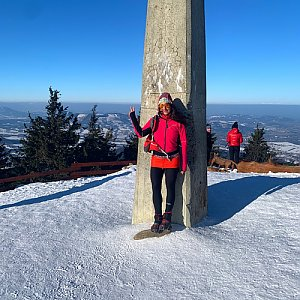 Pavlaja na vrcholu Lysá hora (24.1.2020 10:32)