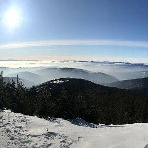 Karin Satoriová na vrcholu Lysá hora (25.1.2020 10:15)