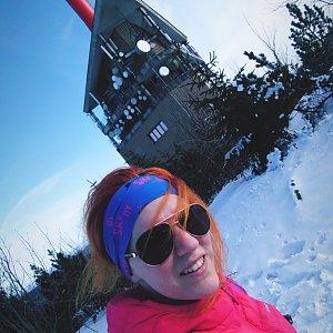 BarůůŠ Heczková na vrcholu Lysá hora (26.1.2020 13:27)