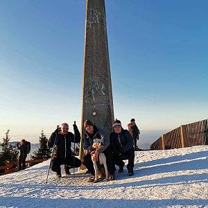 Lukáš, Vojta, a Martin Maupi Day na vrcholu Lysá hora (25.1.2020 16:10)