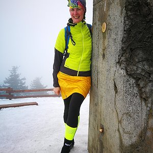 Petra Kosarkova na vrcholu Lysá hora (1.2.2020 15:25)