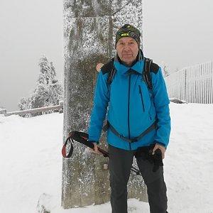 MUDr.Svatopluk Kunčar na vrcholu Lysá hora (6.2.2020 9:56)