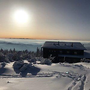 PePa na vrcholu Lysá hora (8.2.2020 8:28)