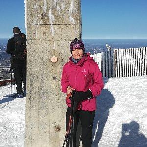 MUDr.Svatopluk Kunčar na vrcholu Lysá hora (8.2.2020 10:48)